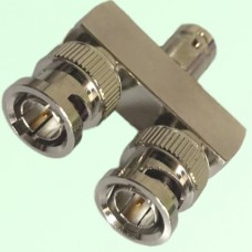 75ohm Y Type BNC Female Jack to Two BNC Male Plug Adapter