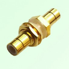 75ohm Bulkhead SMB Male Plug to SMB Male Plug Adapter