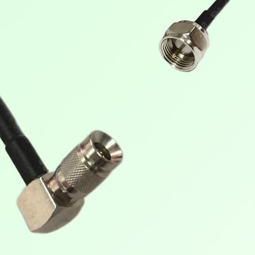 75ohm 1.0/2.3 DIN Male Right Angle to F Male Coax Cable Assembly