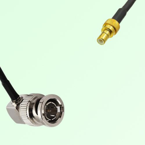 75ohm BNC Male Right Angle to SMB Male Coax Cable Assembly