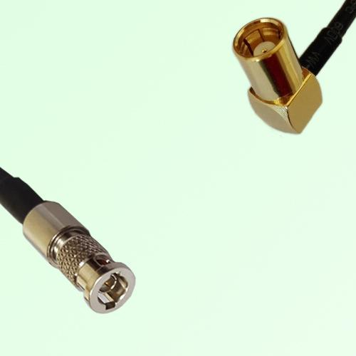 75ohm HD-BNC Male to SMB Female Right Angle Coax Cable Assembly