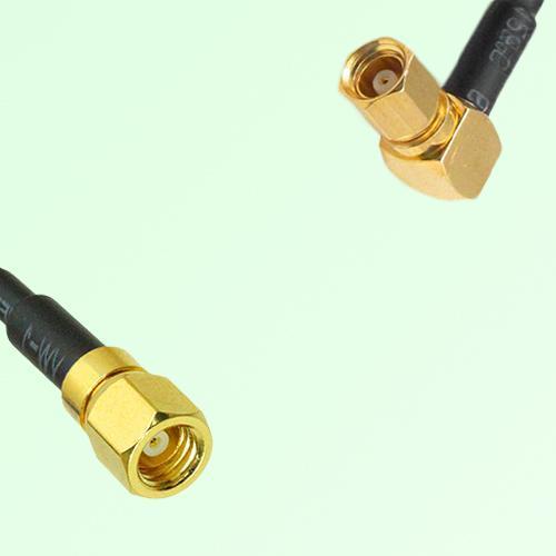75ohm SMC Female to SMC Female Right Angle Coax Cable Assembly