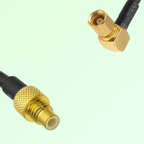 75ohm SMC Male to SMC Female Right Angle Coax Cable Assembly