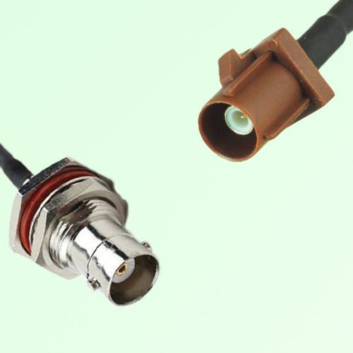 FAKRA SMB F 8011 brown Male Plug to BNC Bulkhead Female Jack Cable