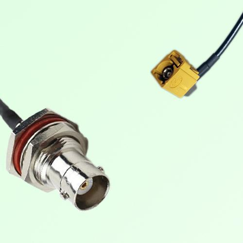 FAKRA SMB K 1027 Curry Female Jack RA to BNC Bulkhead Female Cable