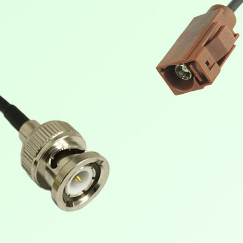 FAKRA SMB F 8011 brown Female Jack to BNC Male Plug Cable