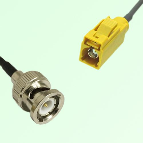 FAKRA SMB K 1027 Curry Female Jack to BNC Male Plug Cable