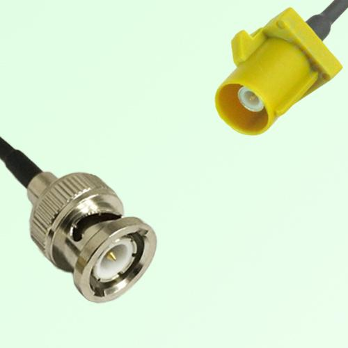 FAKRA SMB K 1027 Curry Male Plug to BNC Male Plug Cable