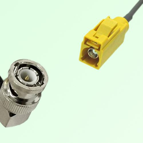 FAKRA SMB K 1027 Curry Female Jack to BNC Male Plug Right Angle Cable