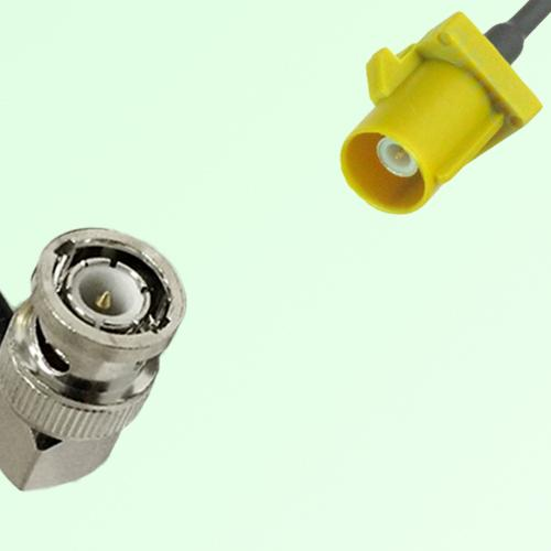 FAKRA SMB K 1027 Curry Male Plug to BNC Male Plug Right Angle Cable