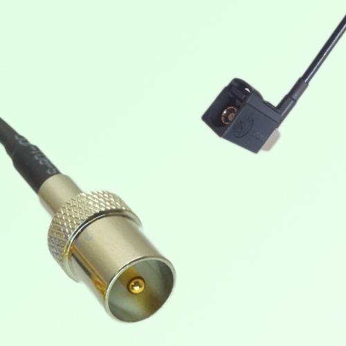 FAKRA SMB A 9005 black Female Jack RA to DVB-T TV Male Plug Cable
