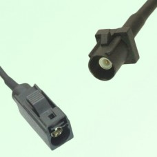 FAKRA SMB A 9005 black Female Jack to A 9005 black Male Plug Cable