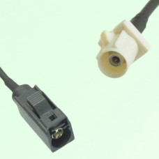 FAKRA SMB A 9005 black Female Jack to B 9001 white Male Plug Cable