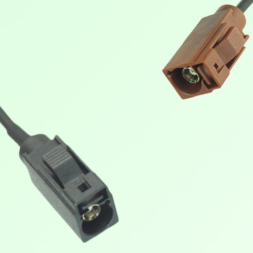 FAKRA SMB A 9005 black Female Jack to F 8011 brown Female Jack Cable