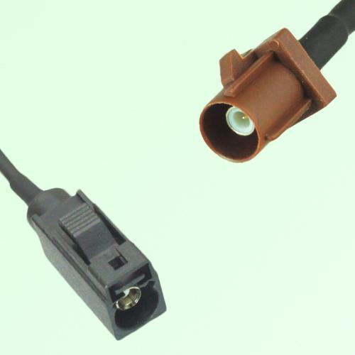 FAKRA SMB A 9005 black Female Jack to F 8011 brown Male Plug Cable