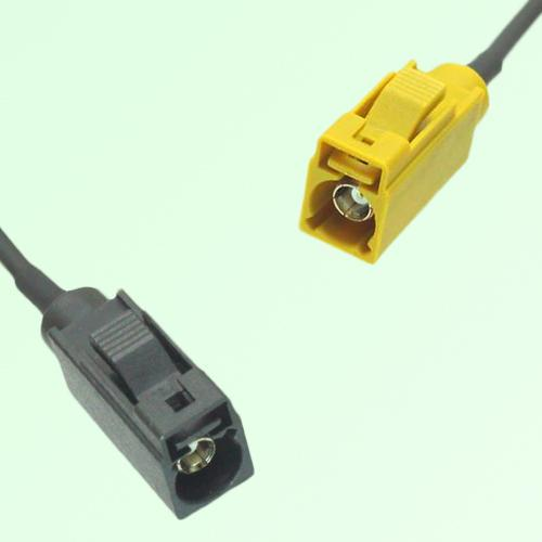 FAKRA SMB A 9005 black Female Jack to K 1027 Curry Female Jack Cable