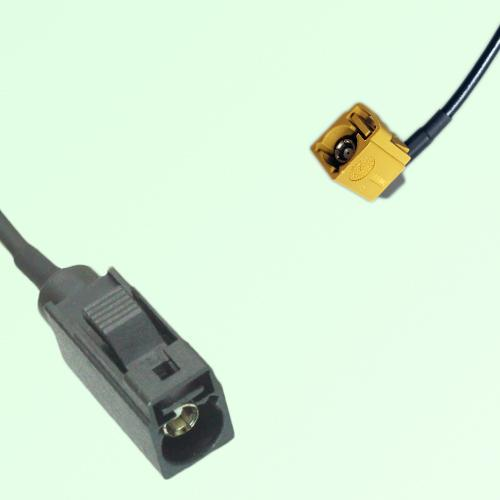 FAKRA SMB A 9005 black Female Jack to K 1027 Curry Female RA Cable