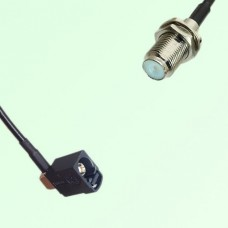 FAKRA SMB A 9005 black Female Jack RA to F Bulkhead Female Jack Cable