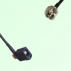 FAKRA SMB A 9005 black Female Jack Right Angle to F Male Plug Cable
