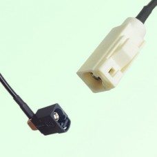 FAKRA SMB A 9005 black Female Jack RA to B 9001 white Female Cable