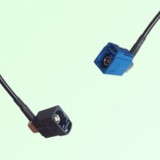 FAKRA SMB A 9005 black Female Jack RA to C 5005 blue Female RA Cable
