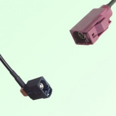 FAKRA SMB A 9005 black Female Jack RA to D 4004 bordeaux Female Cable