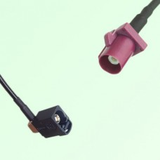 FAKRA SMB A 9005 black Female Jack RA to D 4004 bordeaux Male Cable