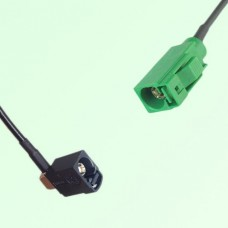 FAKRA SMB A 9005 black Female Jack RA to E 6002 green Female Cable