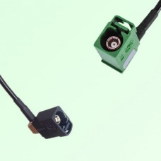 FAKRA SMB A 9005 black Female Jack RA to E 6002 green Female RA Cable