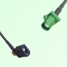 FAKRA SMB A 9005 black Female Jack RA to E 6002 green Male Plug Cable
