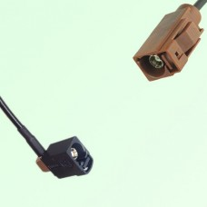 FAKRA SMB A 9005 black Female Jack RA to F 8011 brown Female Cable