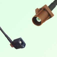 FAKRA SMB A 9005 black Female Jack RA to F 8011 brown Male Plug Cable