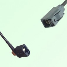 FAKRA SMB A 9005 black Female Jack RA to G 7031 grey Female Jack Cable