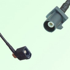 FAKRA SMB A 9005 black Female Jack RA to G 7031 grey Male Plug Cable
