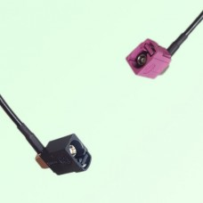 FAKRA SMB A 9005 black Female Jack RA to H 4003 violet Female RA Cable