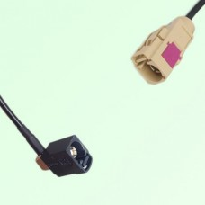 FAKRA SMB A 9005 black Female Jack RA to I 1001 beige Female Cable