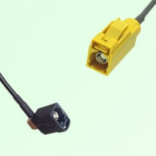 FAKRA SMB A 9005 black Female Jack RA to K 1027 Curry Female Cable