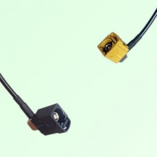 FAKRA SMB A 9005 black Female Jack RA to K 1027 Curry Female RA Cable