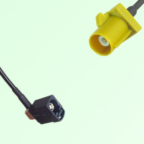 FAKRA SMB A 9005 black Female Jack RA to K 1027 Curry Male Plug Cable