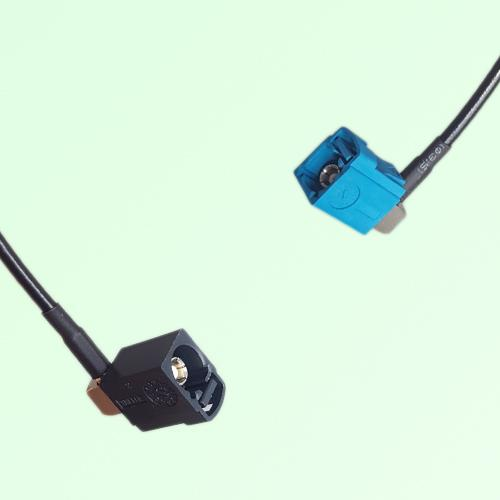 FAKRA SMB A 9005 black Female RA to Z 5021 Water Blue Female RA Cable
