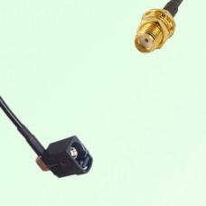 FAKRA SMB A 9005 black Female Jack RA to SMA Bulkhead Female Cable