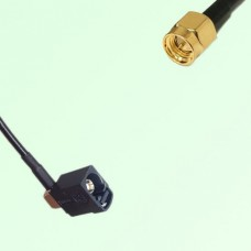 FAKRA SMB A 9005 black Female Jack Right Angle to SMA Male Plug Cable