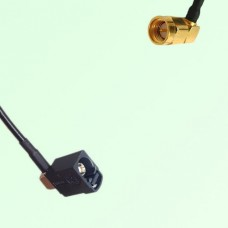 FAKRA SMB A 9005 black Female Jack RA to SMA Male Plug RA Cable