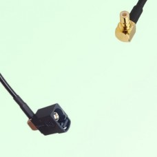 FAKRA SMB A 9005 black Female Jack RA to SMB Male Plug RA Cable