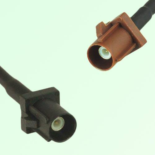 FAKRA SMB A 9005 black Male Plug to F 8011 brown Male Plug Cable