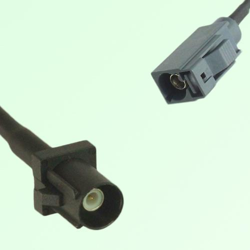 FAKRA SMB A 9005 black Male Plug to G 7031 grey Female Jack Cable