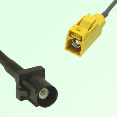 FAKRA SMB A 9005 black Male Plug to K 1027 Curry Female Jack Cable