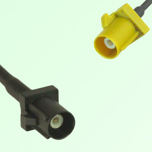 FAKRA SMB A 9005 black Male Plug to K 1027 Curry Male Plug Cable
