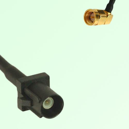 FAKRA SMB A 9005 black Male Plug to SMA Male Plug Right Angle Cable