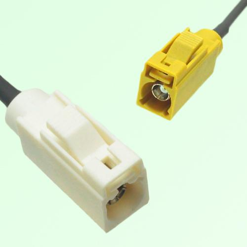 FAKRA SMB B 9001 white Female Jack to K 1027 Curry Female Jack Cable
